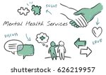 mental health care sketch... | Shutterstock . vector #626219957