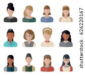 collection people icons in flat ... | Shutterstock .eps vector #626220167