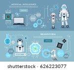 artificial intelligence... | Shutterstock .eps vector #626223077