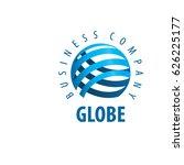 vector logo globe | Shutterstock .eps vector #626225177