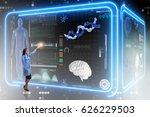 woman doctor in futuristic... | Shutterstock . vector #626229503