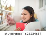 portrait of young asian woman... | Shutterstock . vector #626234657