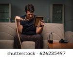 desperate man thinking of... | Shutterstock . vector #626235497