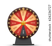 wheel  with money prizes ... | Shutterstock .eps vector #626236727