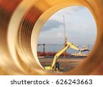 excavators machine in... | Shutterstock . vector #626243663