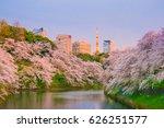 chidorigafuchi park with full... | Shutterstock . vector #626251577