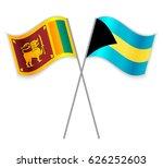 sri lankan and bahamian crossed ... | Shutterstock .eps vector #626252603
