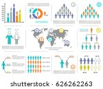 vector modern business... | Shutterstock .eps vector #626262263