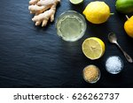 natural isotonic drink lemonade ... | Shutterstock . vector #626262737