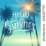 hello summer natural background ... | Shutterstock .eps vector #626267747