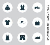clothes icons set. collection... | Shutterstock .eps vector #626277617