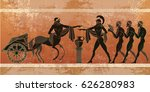 ancient greece scene. black... | Shutterstock .eps vector #626280983