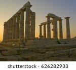 the temple of poseidon in... | Shutterstock . vector #626282933