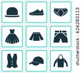 dress icons set. collection of... | Shutterstock .eps vector #626283113