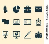 business icons set. collection...