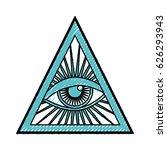 human eye symbol | Shutterstock .eps vector #626293943