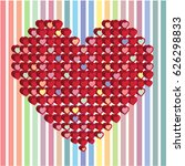 happy valentines day card with... | Shutterstock .eps vector #626298833