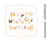 happy birthday sweet 16... | Shutterstock .eps vector #626300123