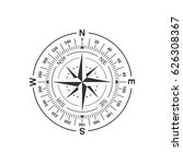 dial of the compass with the... | Shutterstock .eps vector #626308367