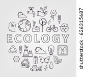 ecology and environment icons.... | Shutterstock .eps vector #626315687