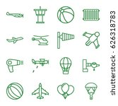 air icons set. set of 16 air... | Shutterstock .eps vector #626318783
