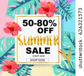 summer sale banner with...   Shutterstock .eps vector #626321573