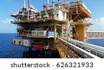 offshore construction platform... | Shutterstock . vector #626321933