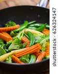stir fried vegetable with... | Shutterstock . vector #626324147