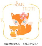 cute greeting card with cartoon ... | Shutterstock .eps vector #626324927