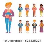 young parents. children slings. ...   Shutterstock .eps vector #626325227
