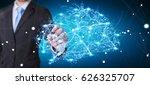 businessman touching digital... | Shutterstock . vector #626325707
