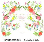 elegant floral background for... | Shutterstock .eps vector #626326133