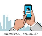 home icon on smartphone screen. ...   Shutterstock .eps vector #626336837