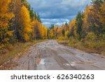 autumn nature of siberia   Shutterstock . vector #626340263