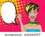 beautiful sexy surprised pop... | Shutterstock .eps vector #626342957