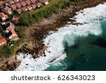 an aerial perspective of a... | Shutterstock . vector #626343023