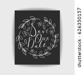 save the date collection with... | Shutterstock .eps vector #626350157
