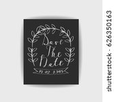 save the date collection with... | Shutterstock .eps vector #626350163
