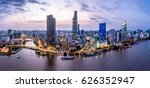 ho chi minh city  aerial view | Shutterstock . vector #626352947