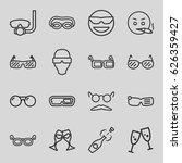 glasses icons set. set of 16... | Shutterstock .eps vector #626359427