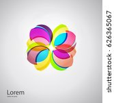 abstract flower logotype.... | Shutterstock .eps vector #626365067