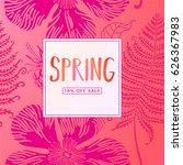 spring sale banner  sale poster ...   Shutterstock .eps vector #626367983