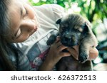 Blurry Portrait Of Little Girl...