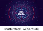 big data visualization. fractal ... | Shutterstock .eps vector #626375033