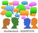 people communication in speech... | Shutterstock .eps vector #626395193