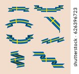 vector set of scrolled isolated ...   Shutterstock .eps vector #626396723