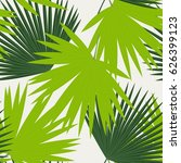 seamless pattern from palm... | Shutterstock .eps vector #626399123