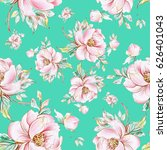 seamless pattern of graceful... | Shutterstock . vector #626401043
