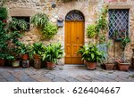 Plants Surround Doorway In...
