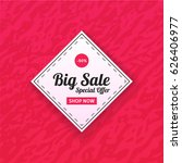 big sale banner with shop now...   Shutterstock .eps vector #626406977